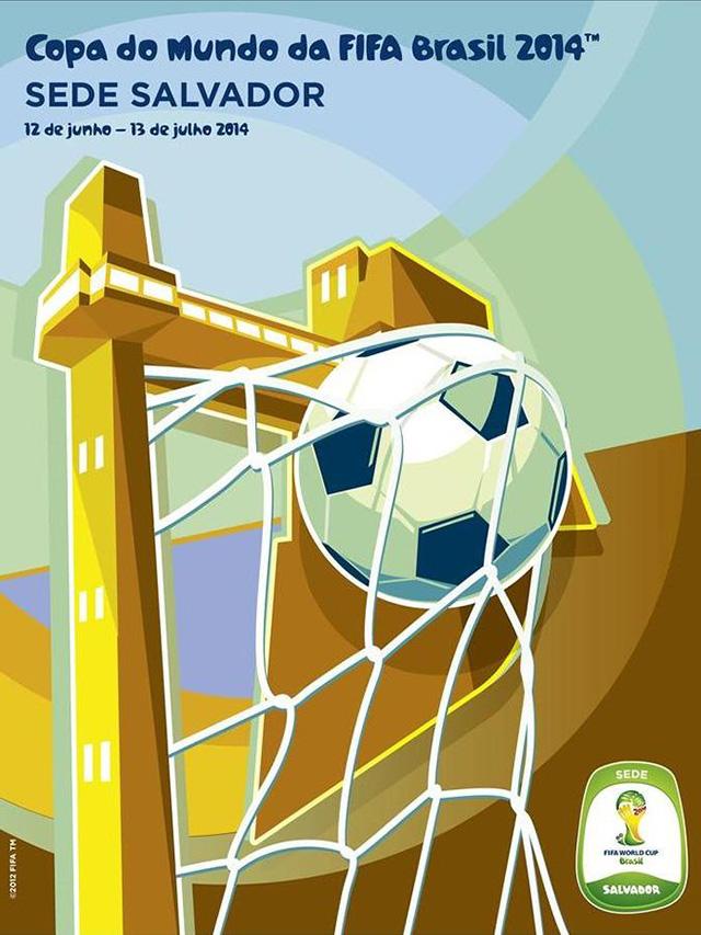 Cartaz Salvador sede Copa do Mundo