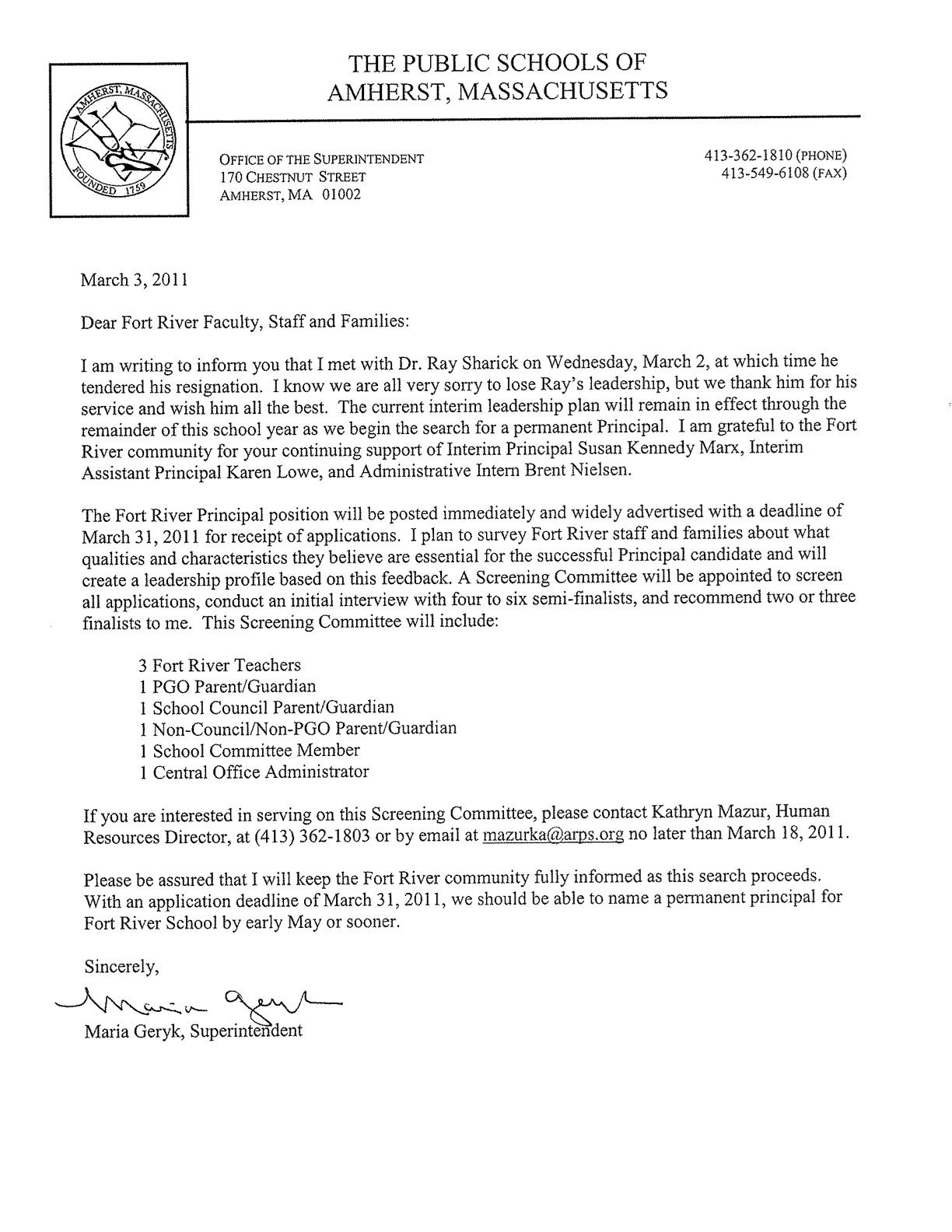 Resignation Letter For Volunteer Firefighter