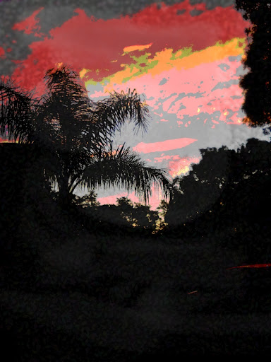 ORIGINAL FINE ART DIGITAL IMAGE, GULF COAST SUNSET