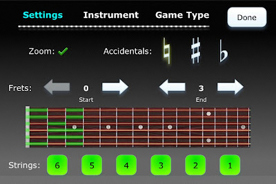 Fret Tester options