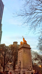 Some shots from Central Park at dusk by Columbus Circle