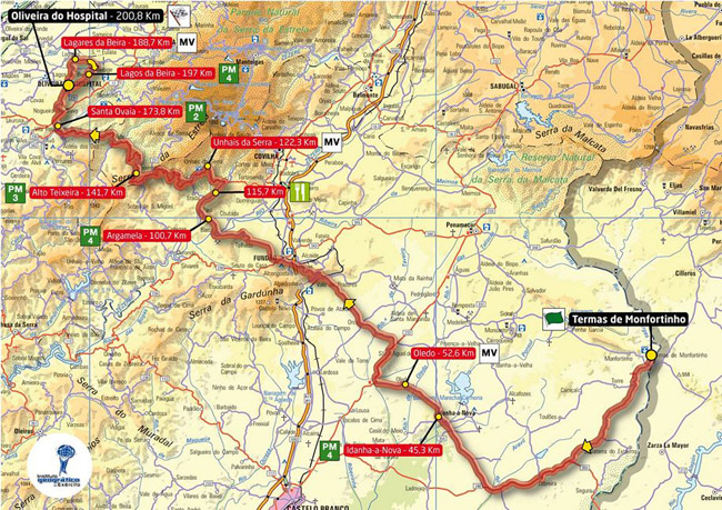 mapa de portugal 2012 PT Radical   1ª Etapa Volta a Portugal (Mapa e Altimetria) mapa de portugal 2012