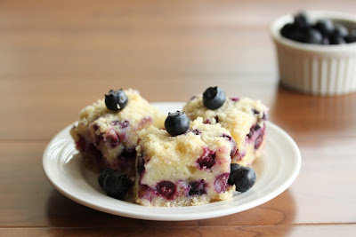 Blueberry Pie bars on a plate