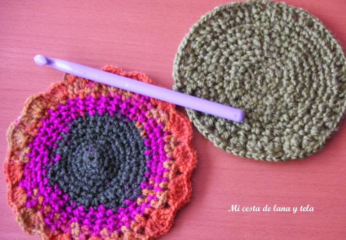 Posavasos ganchillo mi cesta de lana y tela - Posavasos de ganchillo ...