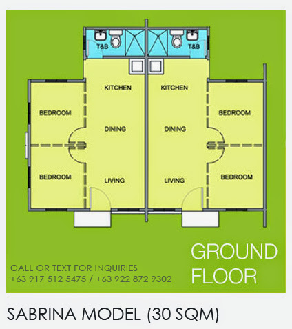 Floor Plan of Sabrina - Camella Lessandra General Trias | House and Lot for Sale General Trias Cavite