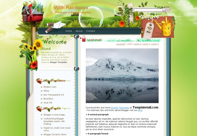 Free Blogger Another Green Web2.0 Template