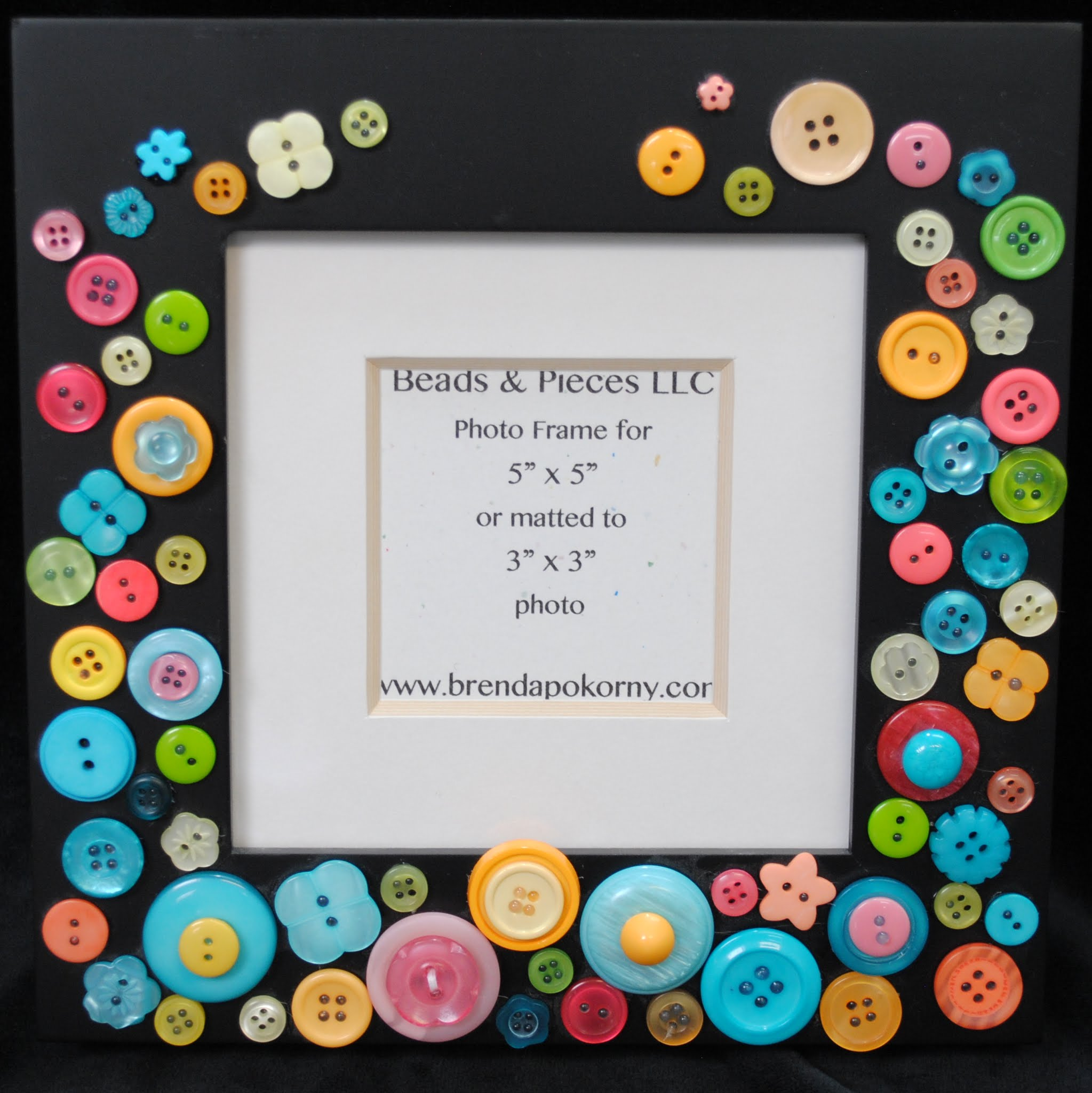 """Flower Festival Brightly Colored 5"""" x 5"""" Photo Frame MOF1432"""
