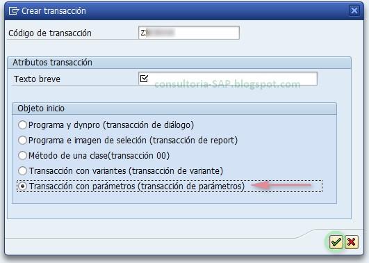 tcode transacción SE93