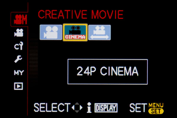 GH2 Cinema 1080/24p setting