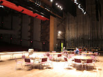 In case the stage we're playing tonight wasnt enough, we got to eat dinner on the theatre stage down the hall.