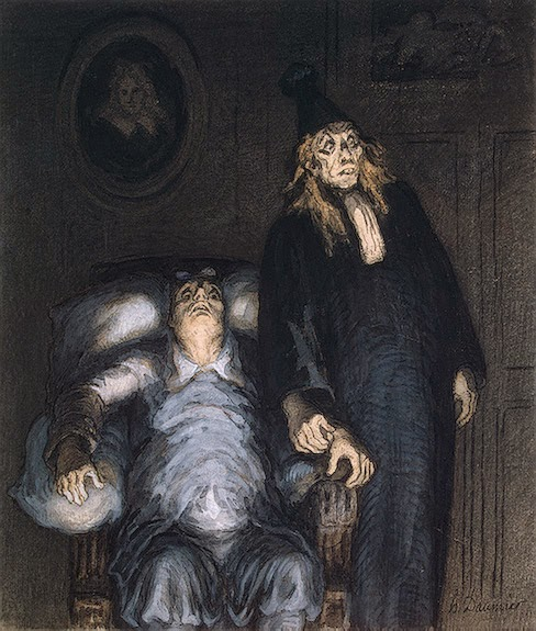 Honoré Daumier - Supposed Invalid