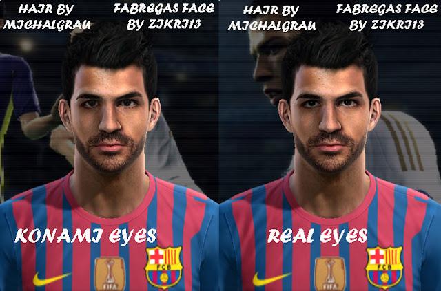 Cesc Fàbregas Face - PES 2012