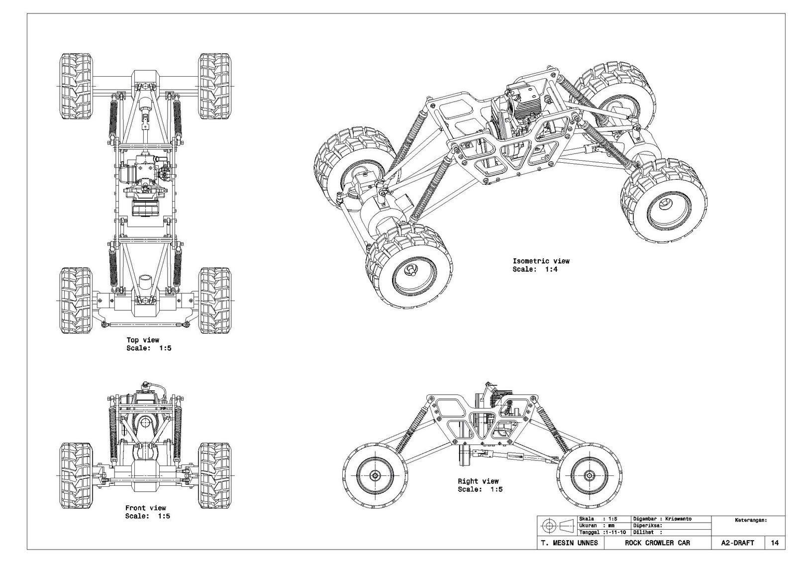 Top Sketsa Gambar Teknik Mesin Sederhana