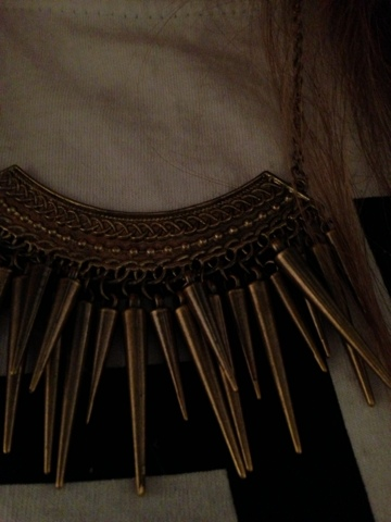 Ebay Multi Spike Statement Necklace