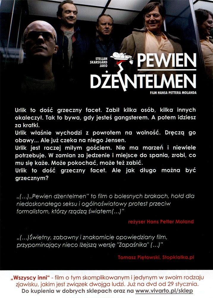 Ulotka filmu 'Pewien Dżentelmen (tył)'