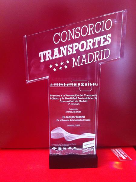 'en bici por madrid' galardonado en los Premios a la Promoción del Transporte Público y la Movilidad Sostenible en la Comunidad de Madrid