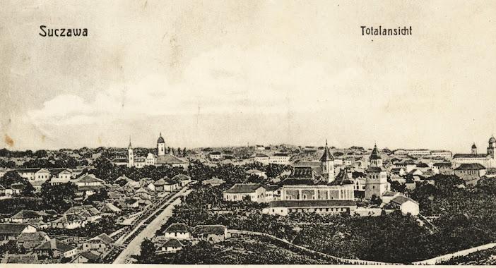 Suceava, perspectivă generală, de epocă, de pe Dealul Tătăraşi (versantul dinspre Dealul Cetăţii) – a doua jumătate a sec. XIX