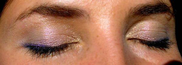 Clarins Colour Quartet For Eyes 10 Celestial - макияж со всеми оттенками
