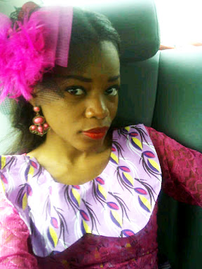 girl, pink lace and ankara