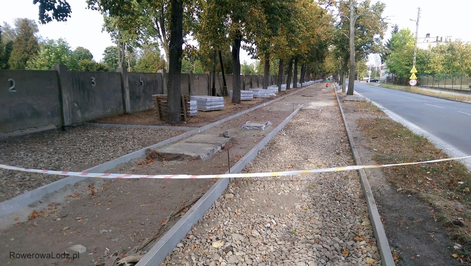 Tuż przed cmentarzem będzie ciąg pieszo-rowerowy, dalej już separowana DDR.