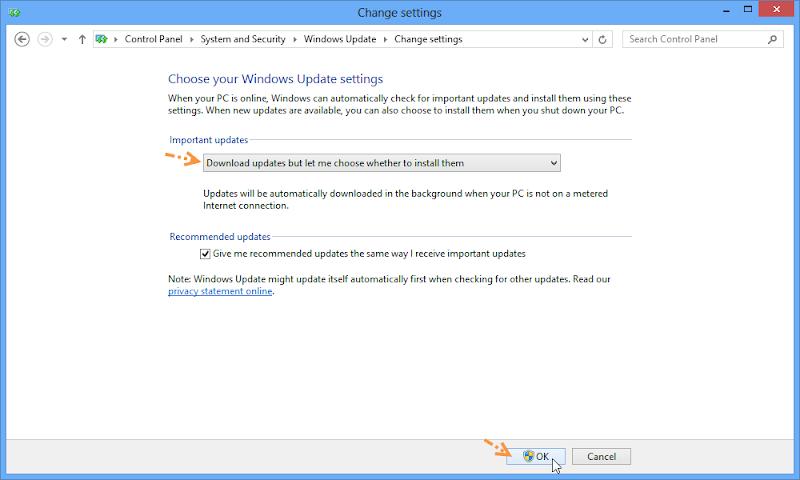 ป้องกันการ Deactivate ใน Windows 8 ด้วยการปรับแต่งการอัพเดตของวินโดวส์ W8upset03