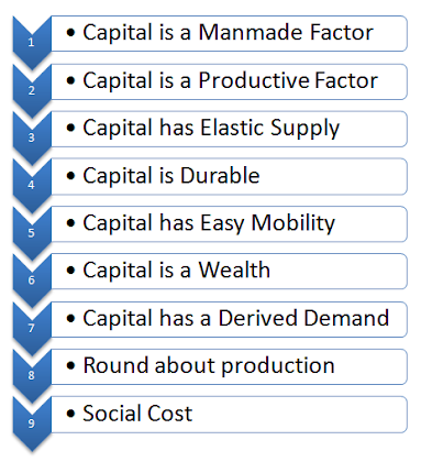 features of capital