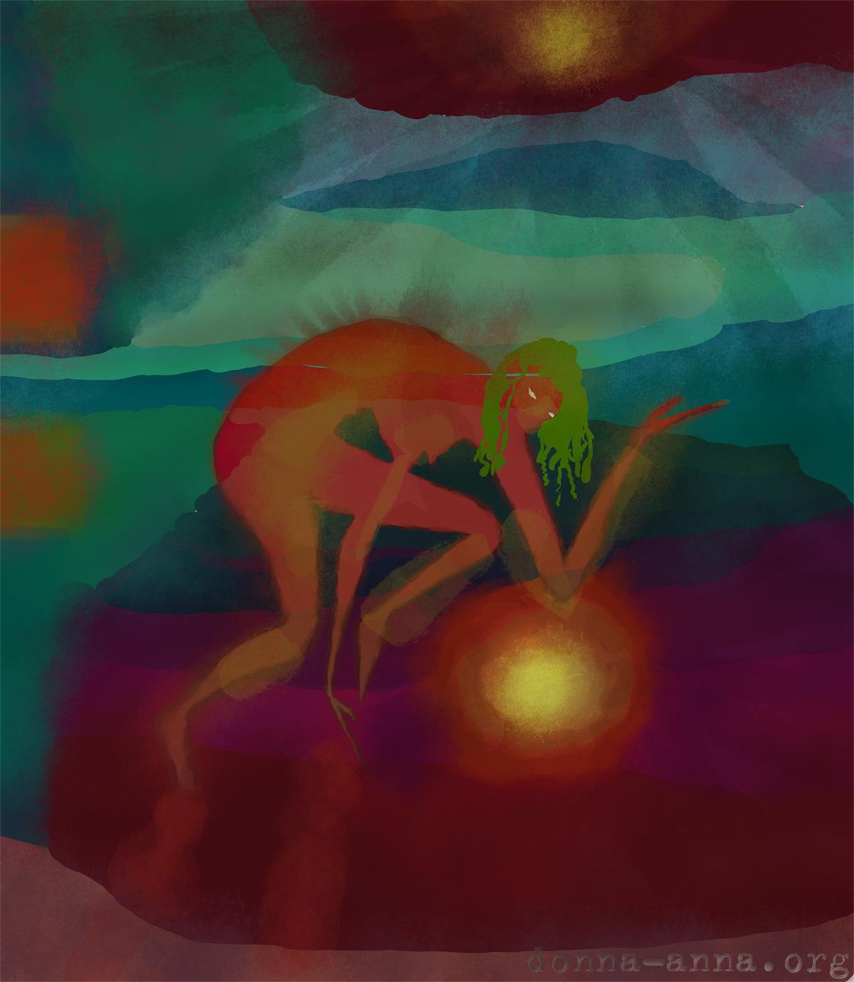 Ночь на красной реке