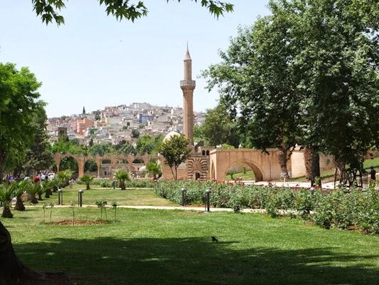 parque en la zona del bazar de Sanliurfa