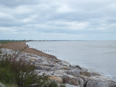 Looking bck towards Shingle Street from Bawdsey