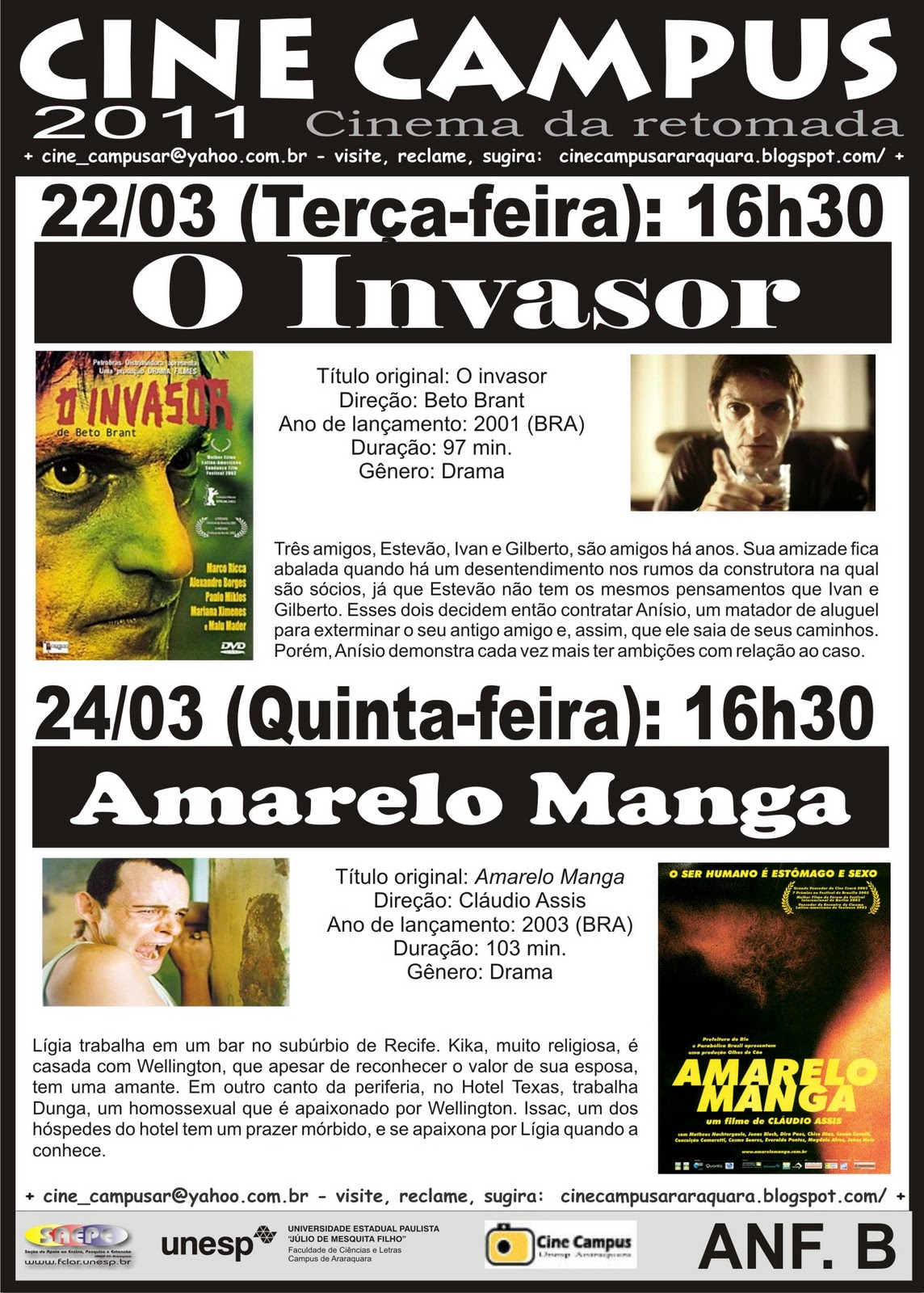 Amarelo Manga 2002 cine campus araraquara: cinema da retomada
