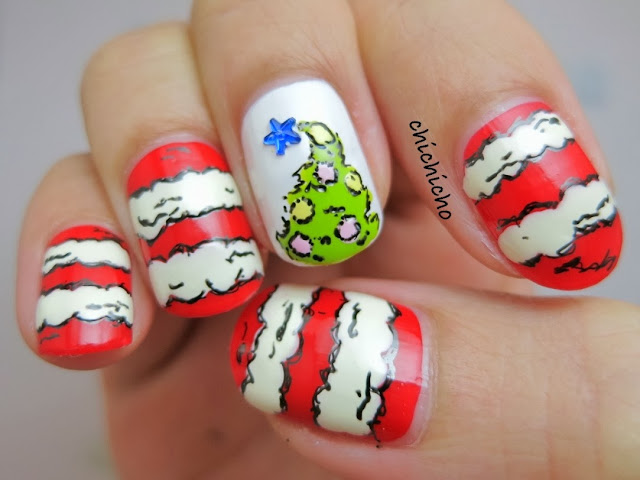 Grinch Christmas Nails