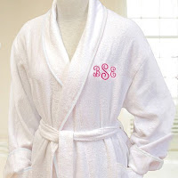 Personalized White Spa Robe