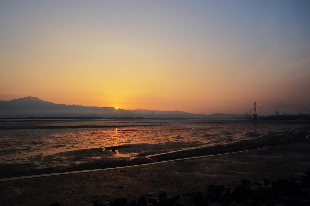 台北五股濕地日出