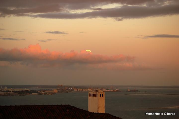 A super lua em Setúbal