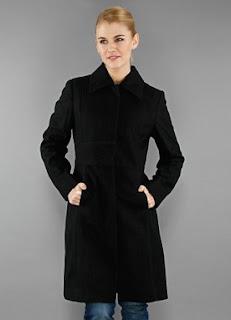 kenneth cole newyork belden oturtmalı siyah bayan kaban modelleri