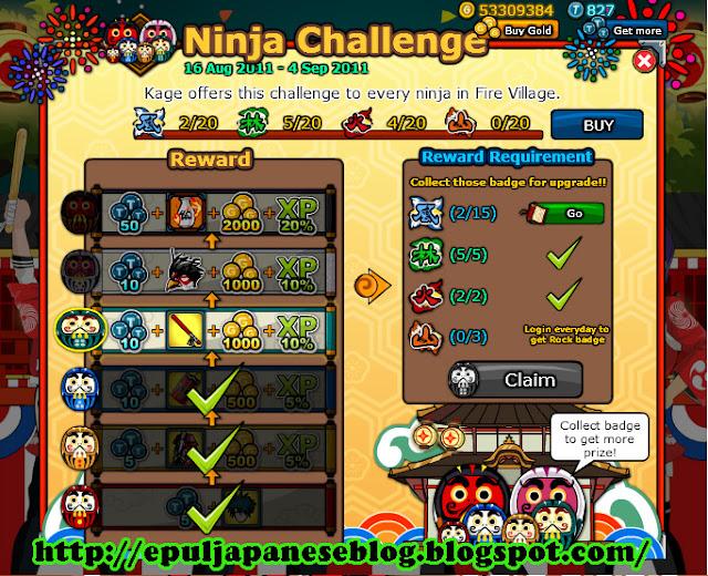 Info Reward-reward 2nd Anniversary Ninja Saga