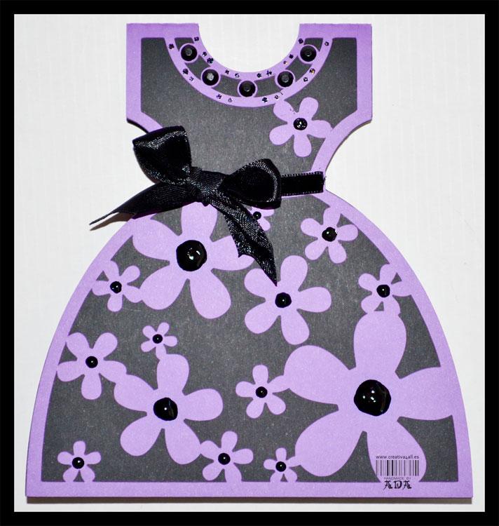 Открытки в виде платья, днем рождением