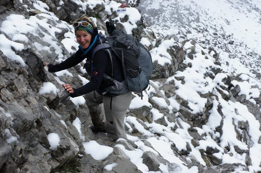 verschneiter Abstieg