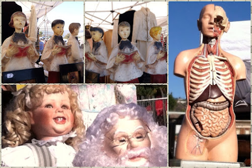 Assorted collectible dolls and figures, Rose Bowl Flea Market (10/12/2012)