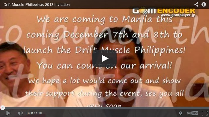 Drift Muscle Philippines 2013 Invitation Custom Pinoy Rides