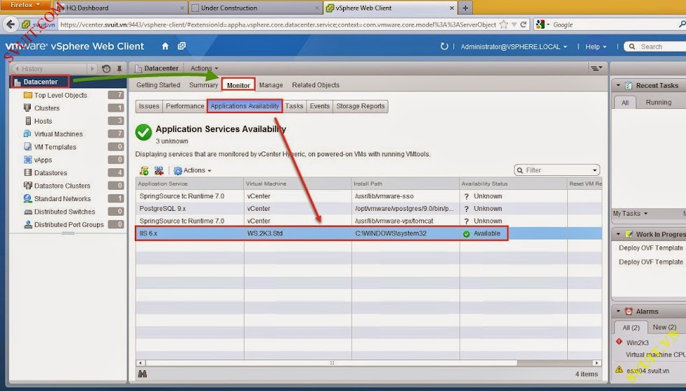 monitor service with vSphere app Ha (2)