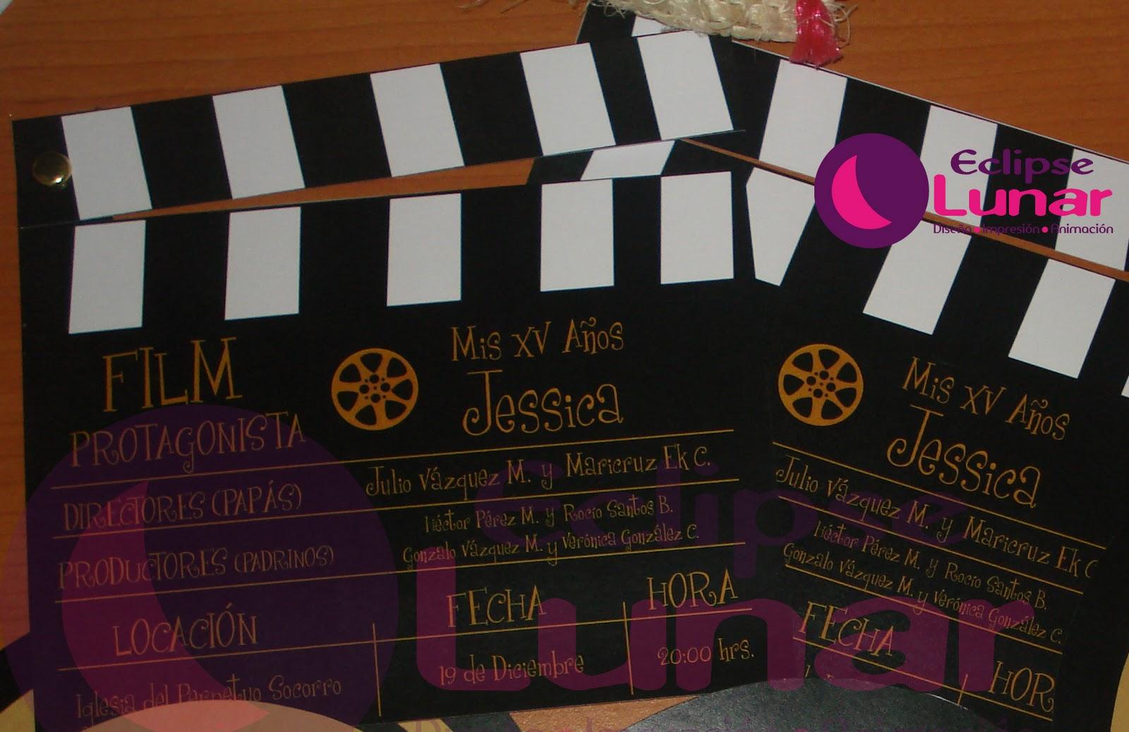 Luna Invitaciones: Fiesta con temática Hollywood!!