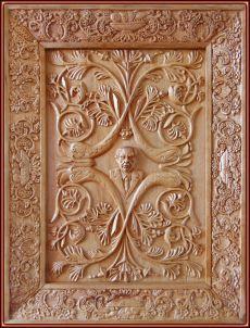 Autorretrato. Talla en madera