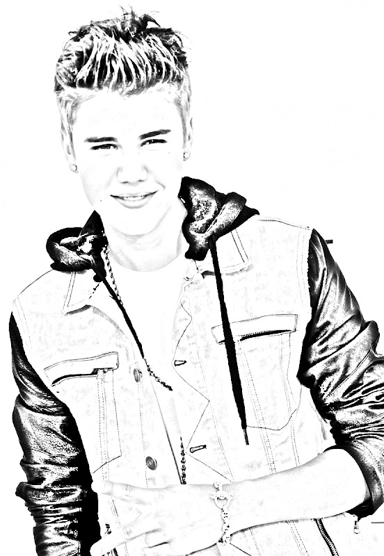 Justin beiber for print and color coloring pages for Free justin bieber coloring pages