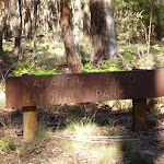 Metal Kanangra Boyd National Park Sign on the Black Range (416708)