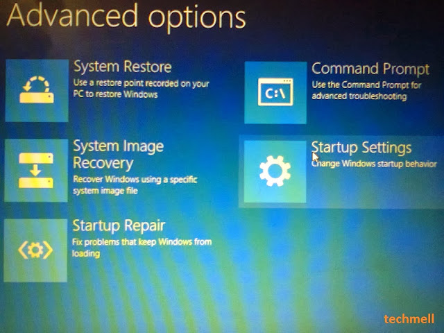 Startup Settings in Win 8.1