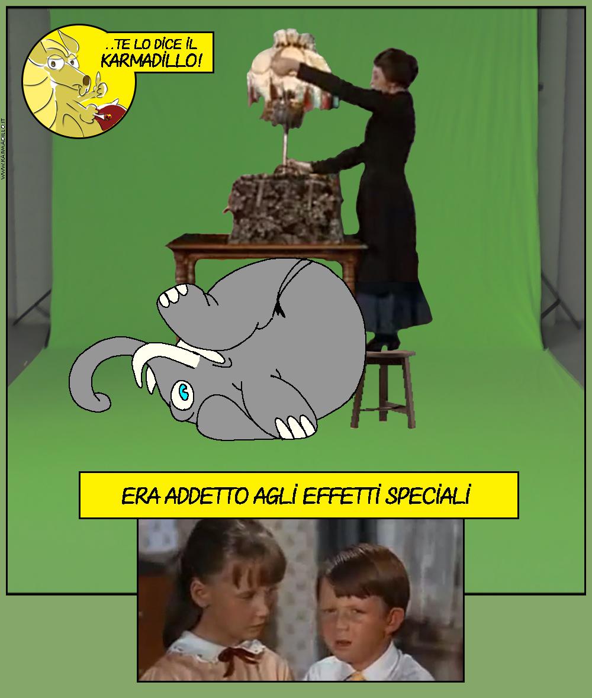 Osvaldo ha impersonato la borsa senza fondo di Mary Poppins