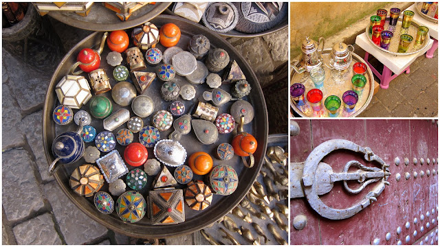 Trinkets sold at Moroccan souks