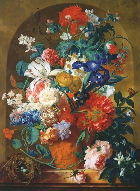 Jan van Huysum - Still-Life of Flowers