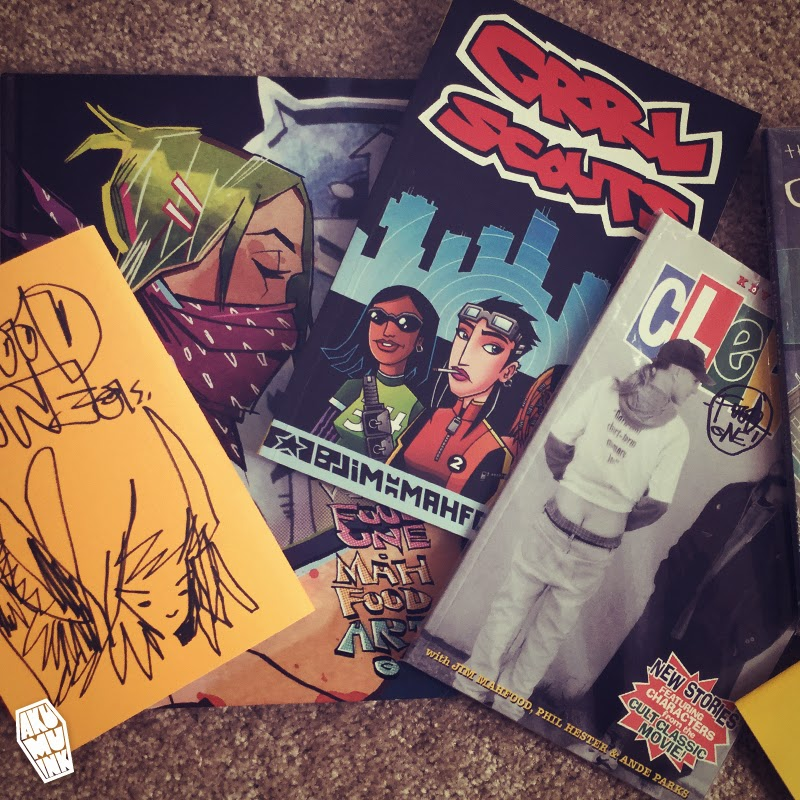 mahfood collection, mahfood comics, jimmahfood, foodone, grrlscouts